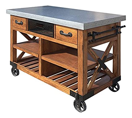 Acme Furniture 98182 Kailey Kitchen Cart Antique Oak