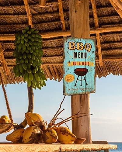 Bild Retro Blechschild BBQ Barbecue Grill 30 x 20 cm Wandbild Bilder 2308