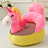HIGOGOGO Stools Children Sofa Kindergarten Plush Small Seat Lazy Cartoon Seat Tatami Washable Cute Baby (Pink Horse)