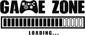 Game Zone Loading Wall Decals, Video Game Wall Stickers, Removable Art Design Gamers World Wall Decor for Boys Room Home Playroom Bedroom Walls Background Decoration (22