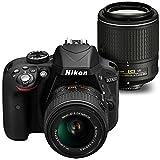 Nikon D3300 DSLR Camera 18-55mm VR II + 55-200mm NIKKOR Lens + 16GB Memory Card + 10PC Accessory Bundle Kit (Black)