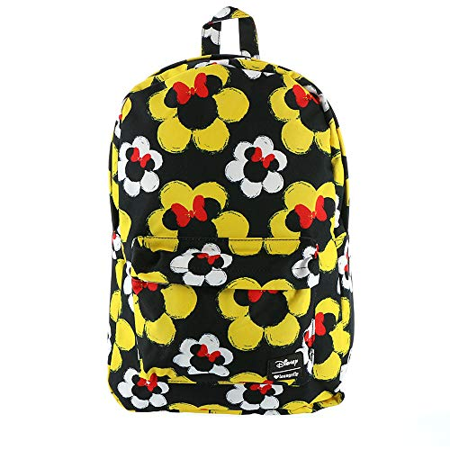Loungefly x Disney Minnie Mouse Flowers Nylon Backpack (One Size, Multicolored)