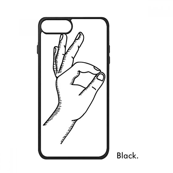 Amazon Com Ok Gesture Line Drawing Pattern For Iphone 7 Plus Cases