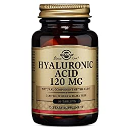 Solgar Hyaluronic Acid Tablets, 120 mg, 30 Count
