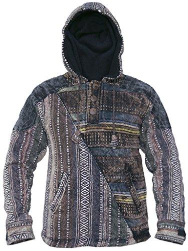 Little Kathmandu Cotton Half Gheri Stonewashed Funky Casual Jackets Hoodie XX-Large -