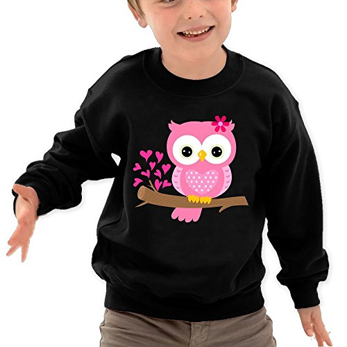 Original Nhl Photos (Puppylol Baby Girl Owl On A Branch Kids Classic Crew-neck Pullover Hoodie Black 5-6 Toddler)