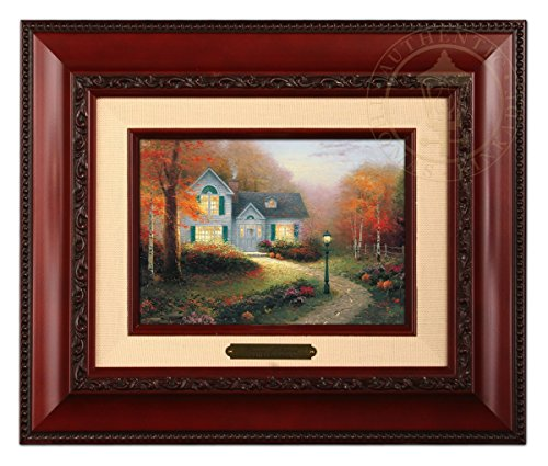 Thomas Kinkade The Blessing Autumn Brushwork (Brandy Frame) (Thomas Autumn Kinkade)