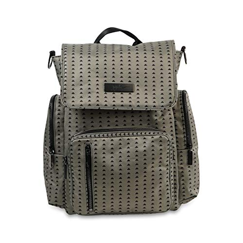 JuJuBe Be Sporty Backpack/Diaper Bag, Onyx Collection - Black Olive