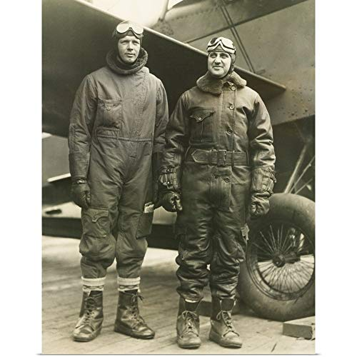 GREATBIGCANVAS Poster Print Entitled Col. Charles A. Lindbergh and Harry F. Guggenheim in Flight-Suits by 12
