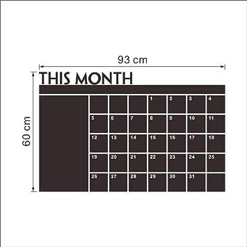 Neyouyou Etiqueta De La Pared Este Mes Calendario Pizarra ...
