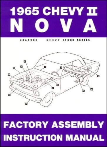 STEP-BY-STEP 1965 CHEVY II & NOVA FACTORY ASSEMBLY INSTRUCTION MANUAL - INCLUDES 4-cylinder and 6-cylinder 1965 Chevy II Including, Nova, Super Sport SS, and station wagon. 65 pdf