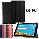 Case LG G Pad II 10.1 Leather Cover - LG G Pad X 10.1 V930 Case - Stand Cover Folio Cover Case for G Pad 2 V940 Flip Cover - LG G Pad X10.1 Tablet Cover-Black