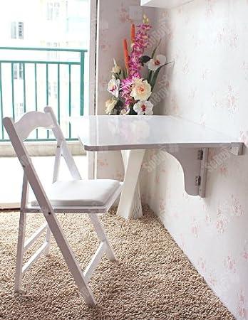 Wandklaptoptisch,Wandtisch, Klapptisch, Esstisch aus Holz, 75x60cm ...