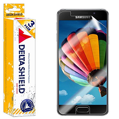Samsung Galaxy A3 Screen Protector (2016)[3-Pack], DeltaShield BodyArmor Full Coverage Screen Protector for Samsung Galaxy A3 Military-Grade Clear HD Anti-Bubble Film