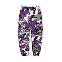 LifeShe Men's Casual Slim Fit Camo Jogger Cargo Pant