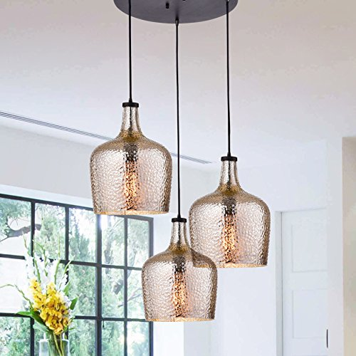 Mouth Blown Glass Pendant Light in Florida - 9