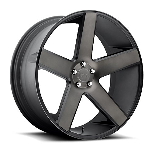 DUB Baller 22 Black Flake Wheel / Rim 6x5.5 with a 31mm Offset and a 78.1 Hub Bore. Partnumber S116229577+31