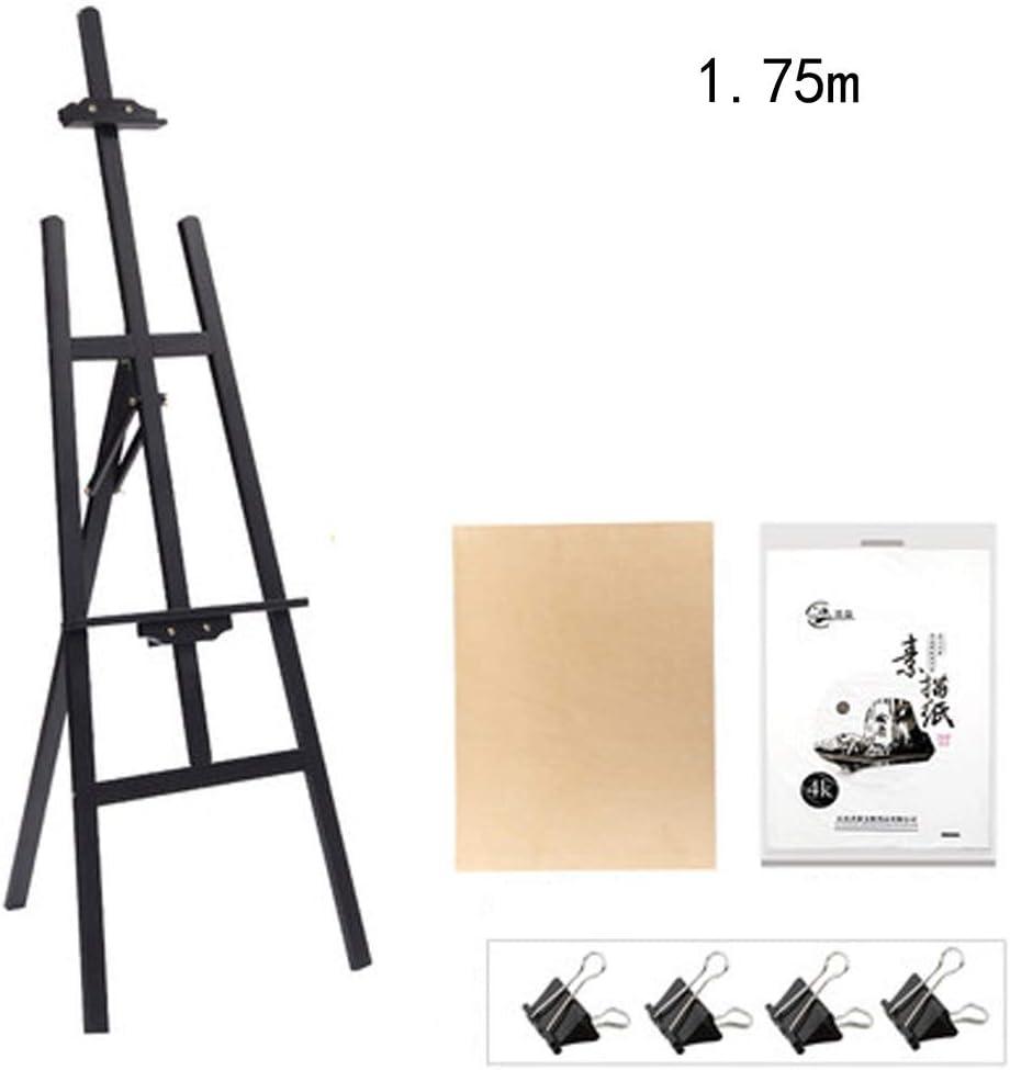 HYYSH 1.5-1.75 metros Conjunto de tablero de dibujo de caballete de boceto de madera Tipo de soporte Soporte de exhibición de pintura multifuncional Principiante Adulto Marco de pintura al óleo plegab: Amazon.es:
