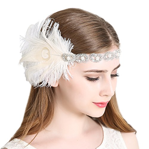 Women's Peacock 1920s Flapper Headband Art Deco Roaring 20s Gatsby Inspired Headpieces for Wedding Party ()
