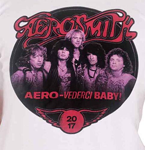 2017 Aerosmith Vederci Euro Homme Shirt Tour Blanc Nouveau Officiel Photo Aero Band T 8trPqaw8