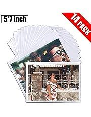 "DIYSELF 14 Pack Magnetic Picture Frames for Refrigerator 5""x7"" Picture Frame, Refrigerator Magnets, Fridge Magnets, Magnetic Photo Pocket"