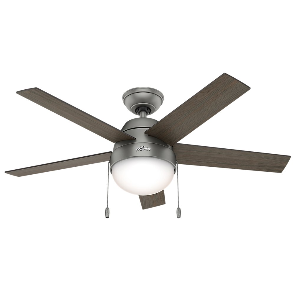 Hunter fan company 59267 contemporary anslee matte silver ceiling hunter fan company 59267 contemporary anslee matte silver ceiling fan with light 46 amazon aloadofball Gallery