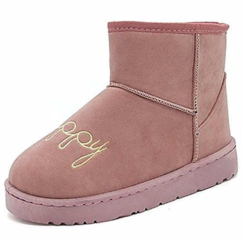 ZHUDJ Women'S Shoes Winter Snow Boots Boots Chunky Print For Casual Blushing Pink Gray Black Pink 2eNLrItQ