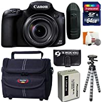 Canon PowerShot SX60 HS 16.1 MP Wi-Fi 65x Optical Zoom Digital Camera + 64GB Card and Reader + Battery + Tripod + Bag + Digital Camera Accessories Kit Noticeable Review Image
