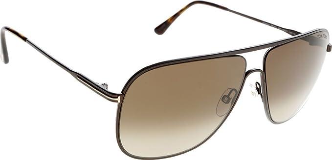 Tom Ford FT0451 C60 49K (matte dark brown / gradient roviex) Sonnenbrillen hEbnV