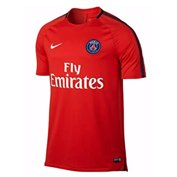 Nike Mens Paris St. Germain 2017/18 Squad Training Jersey, Large