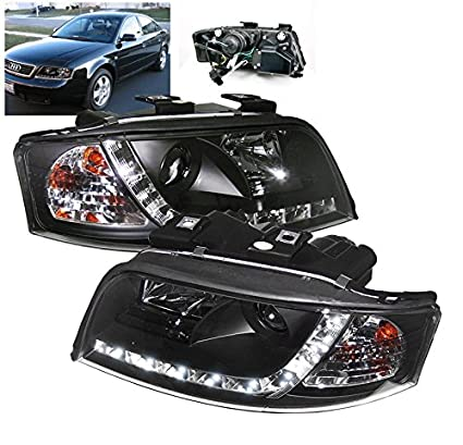 Amazoncom Zmautoparts Audi A6 C5 Drl R8 Led Projector Headlights