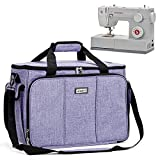 HOMEST Sewing Machine Carrying Case with Multiple Storage Pockets, Universal Tote Bag