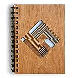 Quilt Diamond Laser Cut Wood Journal (Notebook / Birthday Gift / Gratitude Journal / Handmade)