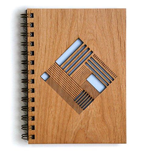 Quilt Diamond Laser Cut Wood Journal (Notebook / Birthday Gift / Gratitude Journal / Handmade) (Quilt Wood)