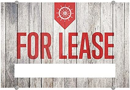 27x18 Classic Navy Premium Acrylic Sign for Lease CGSignLab 5-Pack