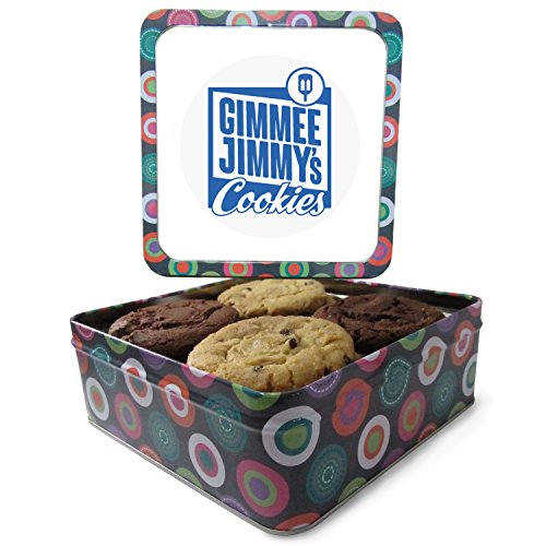 Fresh Baked Assorted Cookie Gift Tin| Gimmee Jimmy's Cookies| Available in Multiple Sizes (1 Pound)