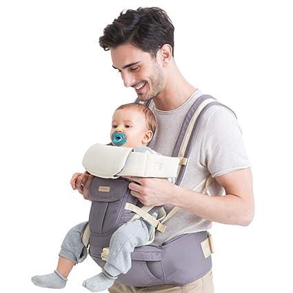 ACEDA Mochila Portabebé Ergonómico con Cintura Taburete,Multifuncional Transpirable Porta Bebé con Múltiples Posiciones Suave