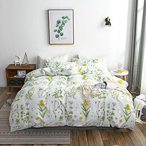 CoutureBridal Botanical Duvet Cover Set Queen Size 90