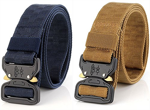 Thickyuan Men's Tactical Belt Heavy Duty Webbing Belt Adjustable Military Style Nylon Belts with Metal Buckle|MOLLE Tactical CQB Rigger|multiple choices by Thickyuan (Image #7)