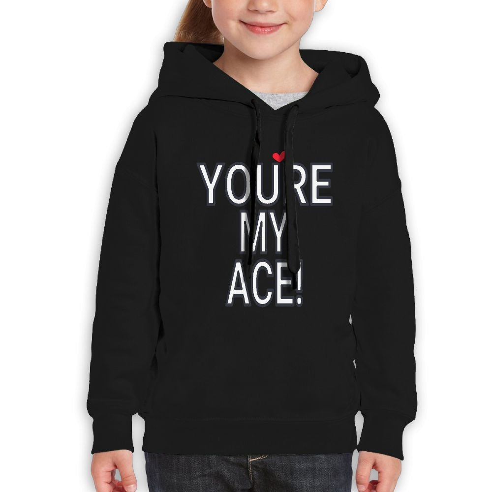 Gjshdhcui Youth Girls Student Ace Family Pullover Top Hooded Sweatshirt 5-10 Years Old