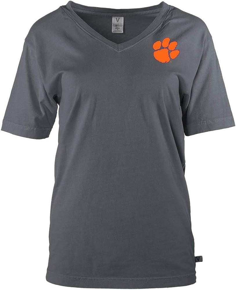 Womens Long Sleeve Spirit Wear Jersey T-Shirt Venley Official NCAA Clemson Tigers TIGER RAG