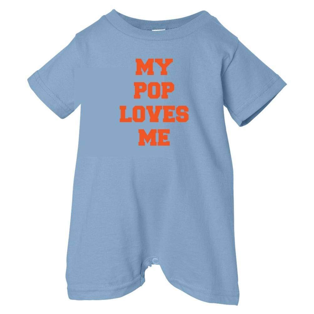 So Relative Unisex Baby My Pop Loves Me T-Shirt Romper