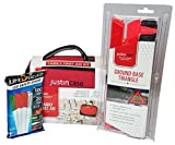 Road Trip Essentials Emergency Car Kit for Women and Men with First Aid Kit for Car, Reflective Warning Triangle Bundled with LED Safety Sticks