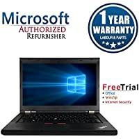 Lenovo ThinkPad T430S 14 Inch Business High Performance Laptop Computer(Intel Core i5-3320M 2.6G,4G RAM DDR3,320G HDD,Windows 10 Professional)(Certified Refurbished)