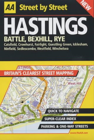 AA Street by Street: Hastings, Battle, Bexhill, - Hasting Shops Street