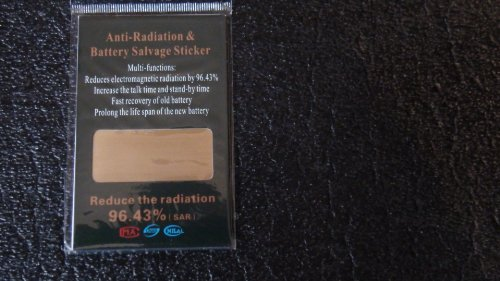 (Anti-radiation & Battery Salvage Sticker for Cell Phones - Cut down on Radiation inatake, Radiation is)