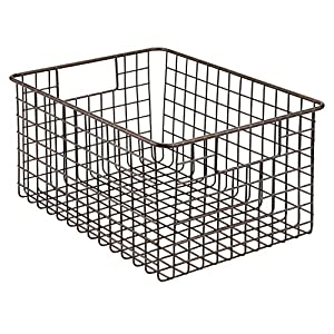 "mDesign Metal Wire Food Storage Organizer Bin, 12"" x 9"" x 6"""