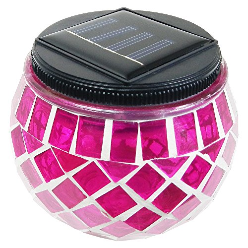 Cheap  iGlow 1 Pack Outdoor Magenta Solar Powered Mosaic Lights Crystal Glass Ball..