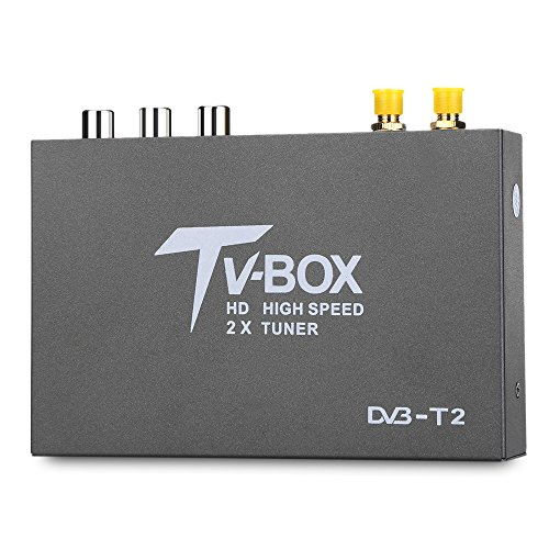 AUTOLOVER T338B DVB - T2 Car Digital TV Tuner 2 Amplifier Antenna Multi-function For Germany, UK,Thailand, Russia, Malaysia, Singapore, Colombia, etc.