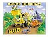 Bob the Builder edible party cake topper cake image